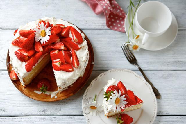 Homemade cake for the family celebration
