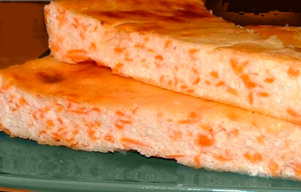 Cottage cheese-carrot dessert
