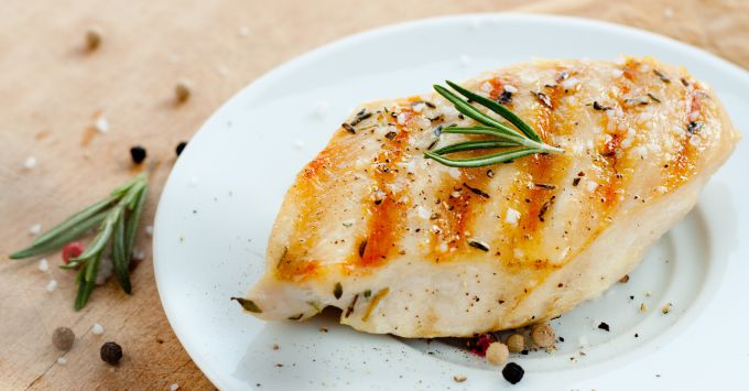 Chicken breast on the grill