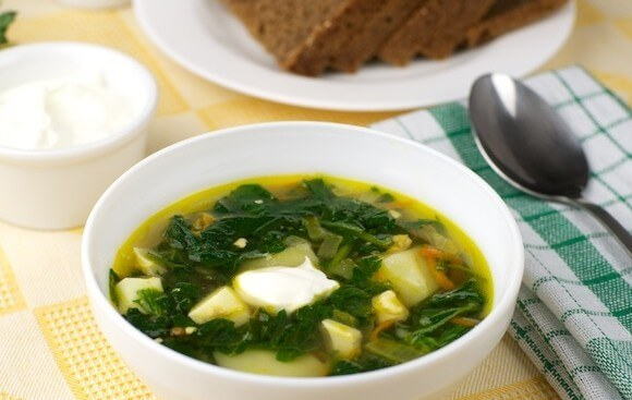 Summer soup with nettles