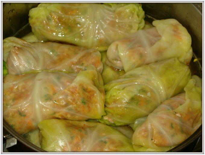Classic meat stuffed cabbage rolls