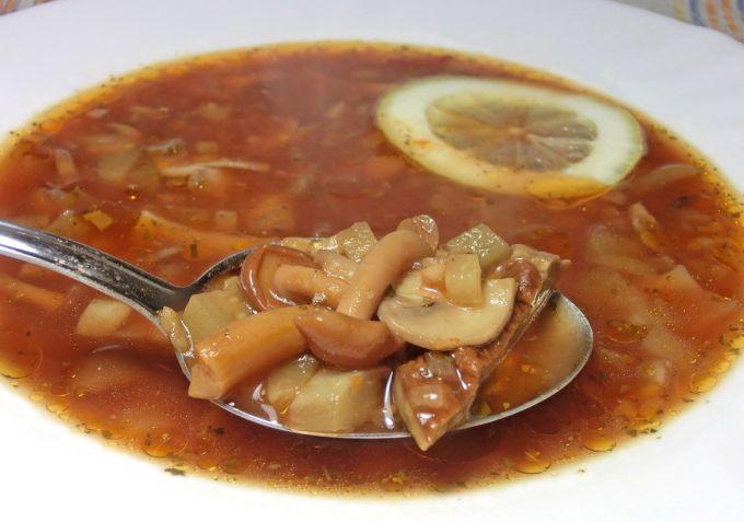Солянка сборная мясная с грибами рецепт с фото пошаговый