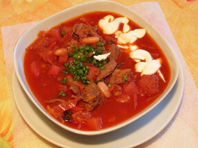 Рецепт украинского борща со свининой 191