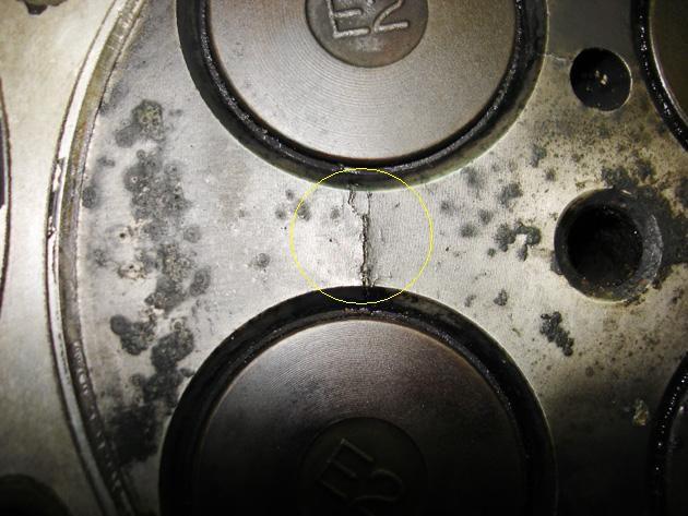 как выяснить есть ли трещины в гбц не снимая форд транзит