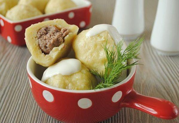 Мясные картофельные клецки по-немецки