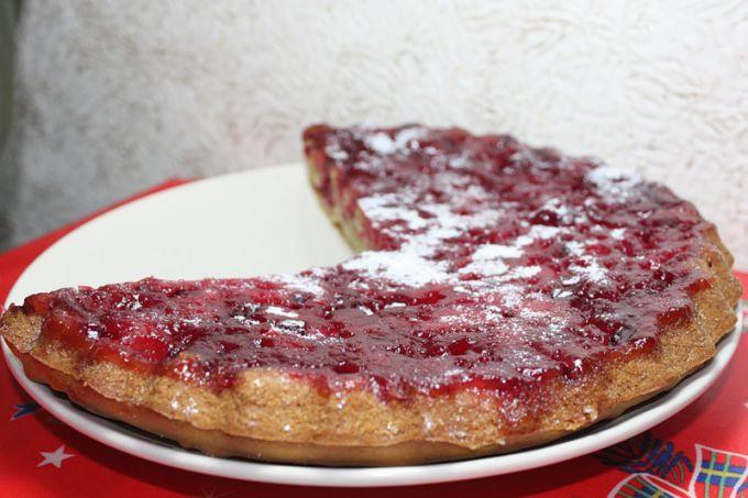 Открытый пирог из клюквы рецепт