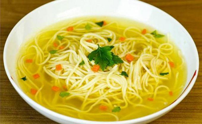 Noodle soup homemade
