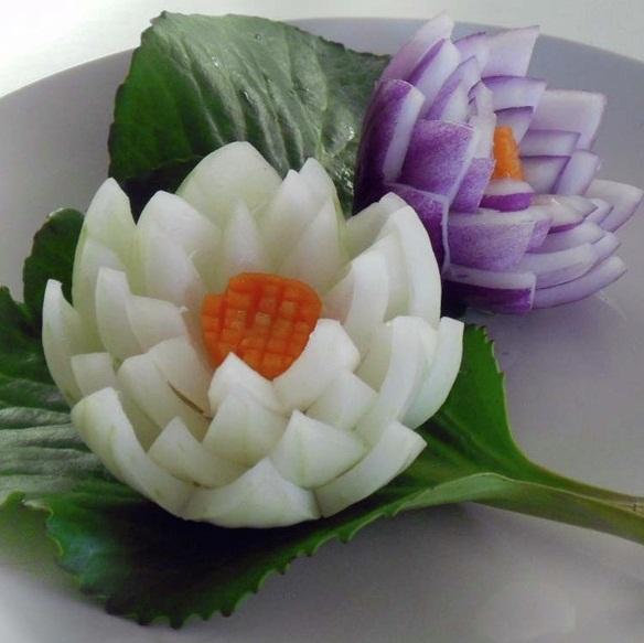 Цветы из лука пошаговое