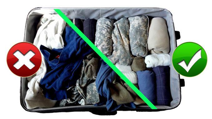 Сложенный чемодан