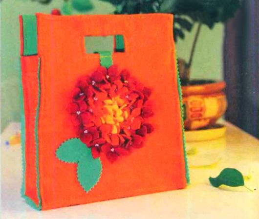 Как сделать подарочную сумочку из фетра
