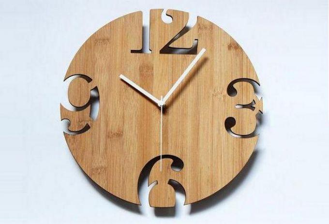 Часы из фанеры своими руками