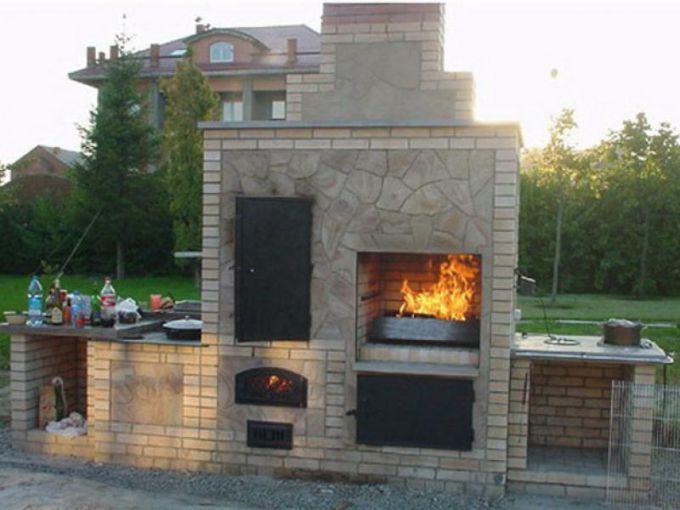 Как построить мангал с жаровней