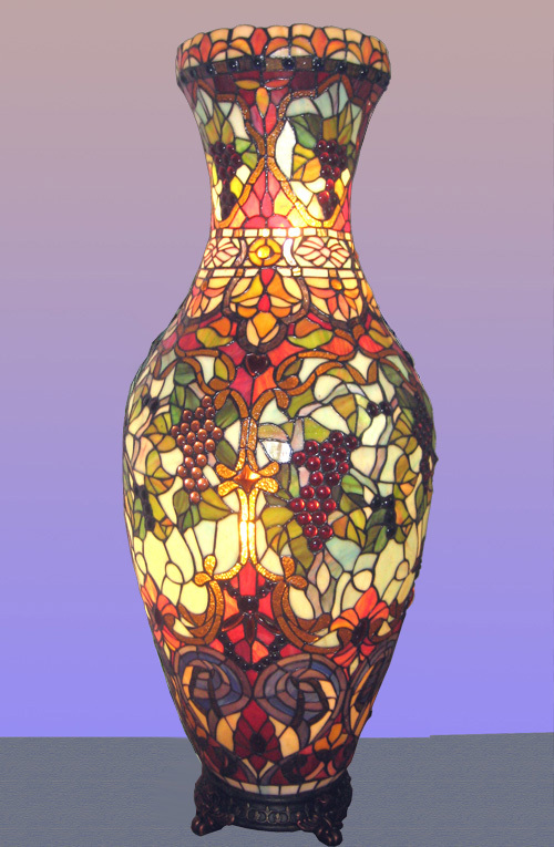 Как сделать расписную вазу  с поддержкой акрила
