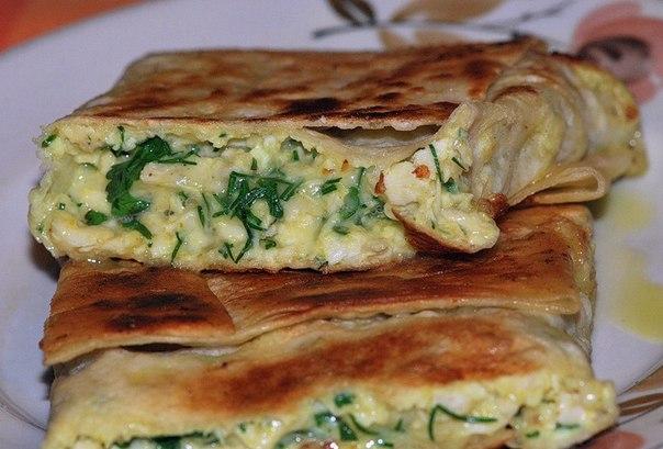 Конвертики с сыром и яйцом