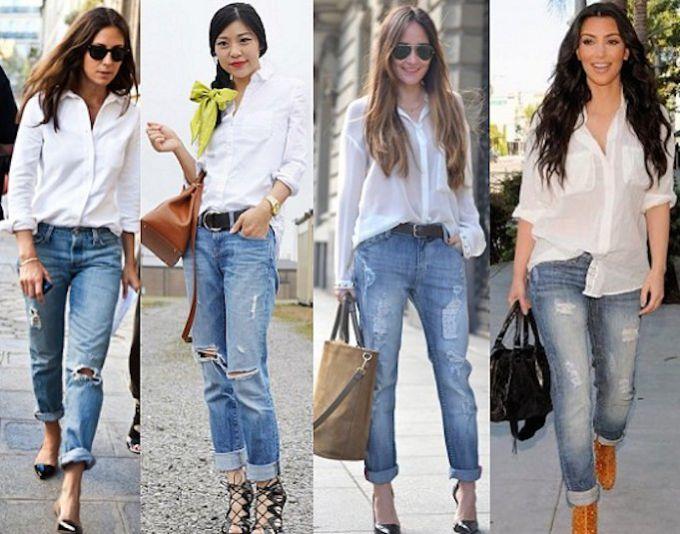 a4e244d5a2e Как правильно носить белую рубашку с джинсами женщине