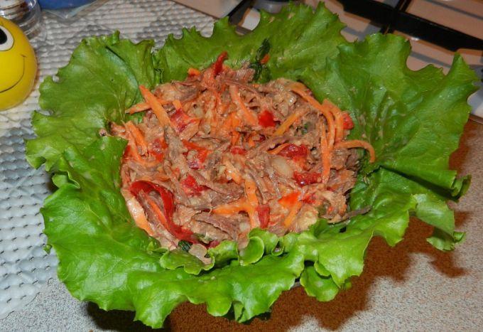салат роза рецепт с селедкой с корейской морковью