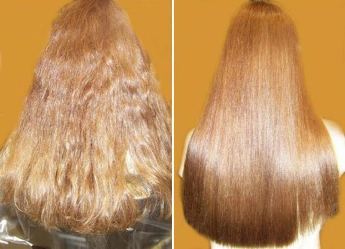 Как выпрямить волосы дома кератином
