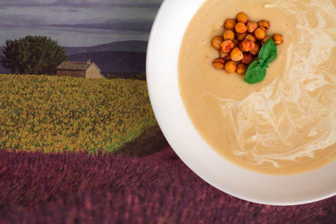 Картофельный суп-пюре с хрустящим нутом