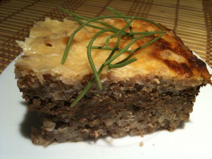 Гречневый пирог с печенью