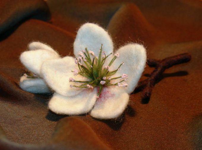 Как сделать цветок на волосы из фетра
