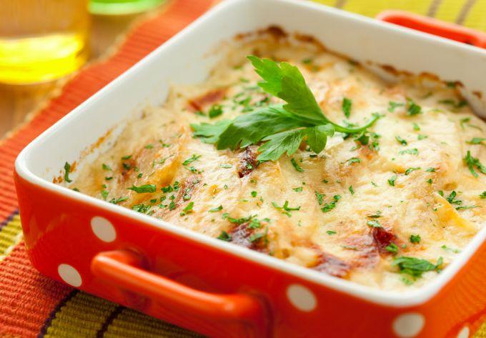 Как приготовить овощной гратен с куриной печенью