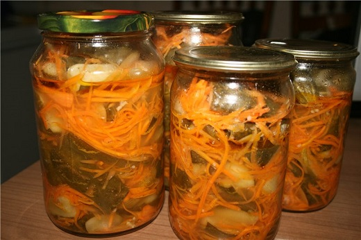 Салаты огурцы заготовки на зиму рецепты с