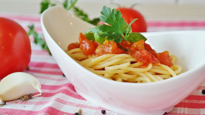 Как приготовить спагетти с томатом