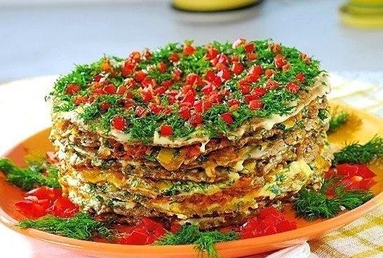 Торт из куриной печени рецепт с фото пошагово