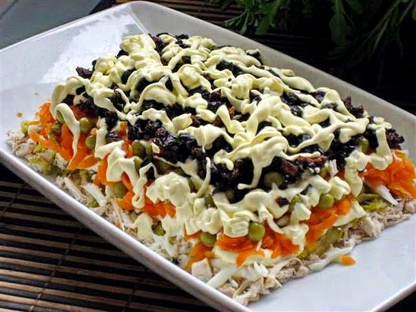 Салат с курочкой вкусный рецепт