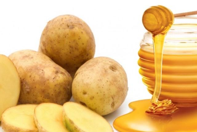 Лечение геморроя картофелем и медом