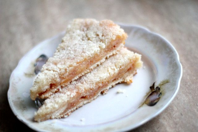 Как приготовить постный насыпной пирог с айвой