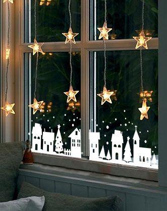 Новогодняя атмосфера на окнах