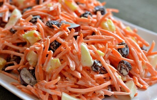 Как сделать салат морковью