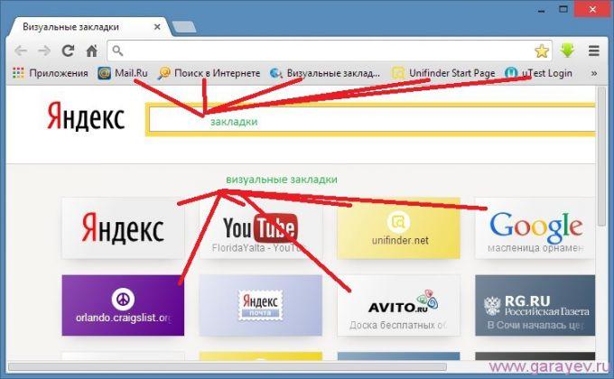 Как работать с закладками в браузере «Яндекс»