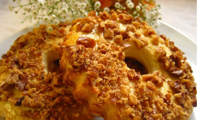 Как приготовить печенье «Ореховые кольца»