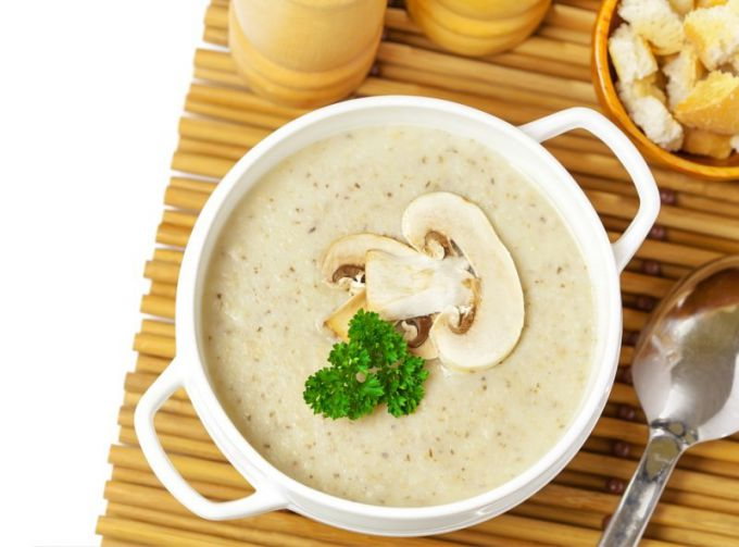 Как приготовить суп-пюре с грибами и сливками