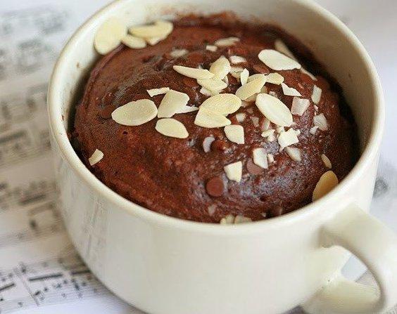 Как приготовить шоколадный кекс в кружке в СВЧ-печи