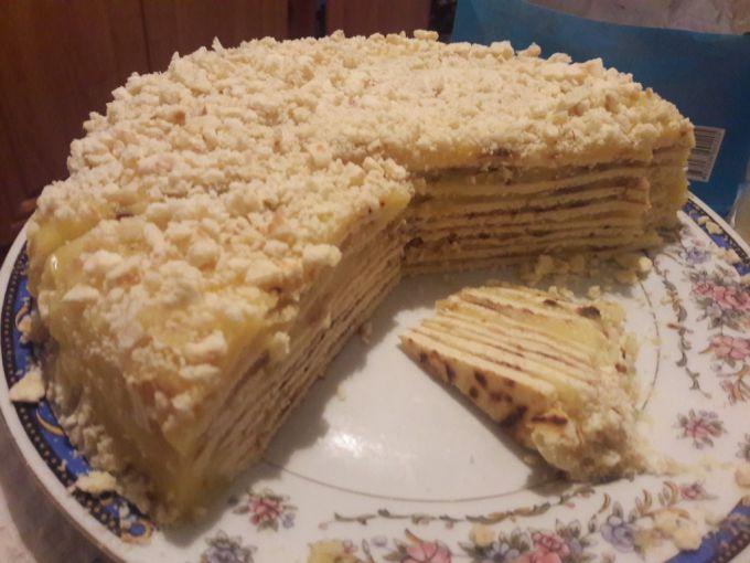 Как приготовить торт со сгущенкой на сковороде