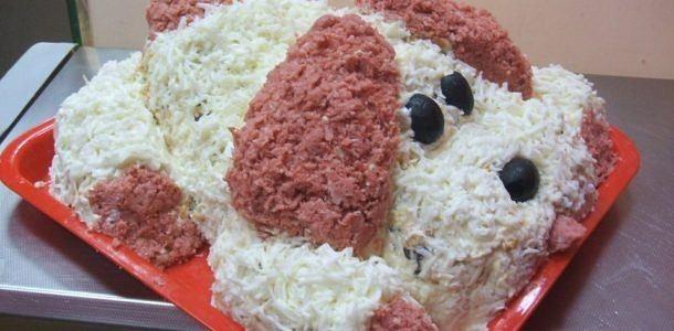 Как приготовить салат «Щенок»