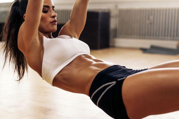 Эффективное фитнес пресс девушке