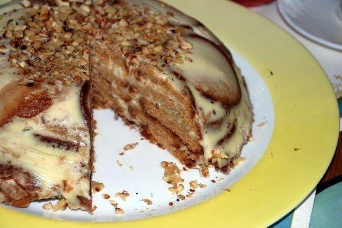 Как приготовить холодный торт из пряников