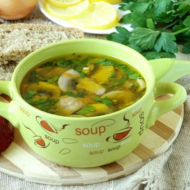 Как сварить грибной суп на мясном бульоне