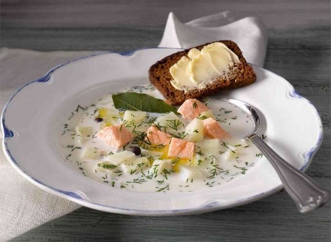 Как приготовить суп с лососем и сливками