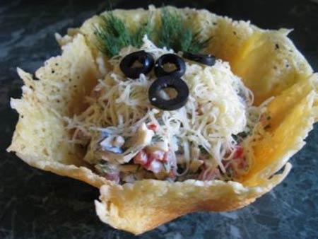 Фото рецепты салат из сырной корзинке