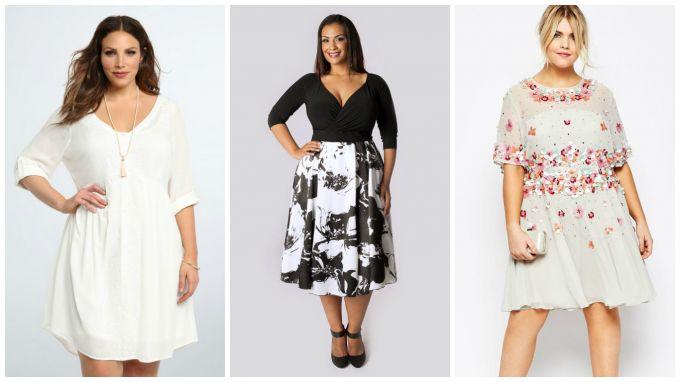какие платья для полных девушек будут в моде в 2017 году