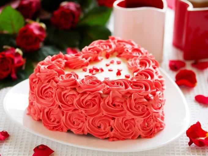 Как сделать торт в виде сердец 662