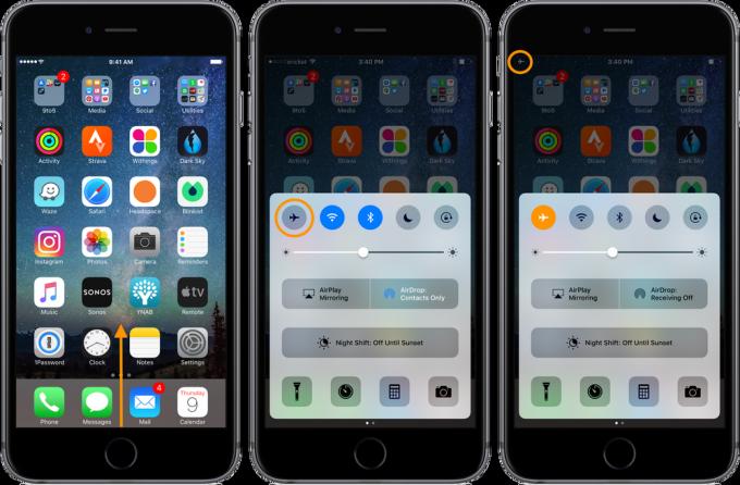 Режим полета в iPhone - быстрая зарядка аккумулятора