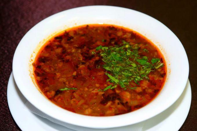 Как приготовить постный суп харчо