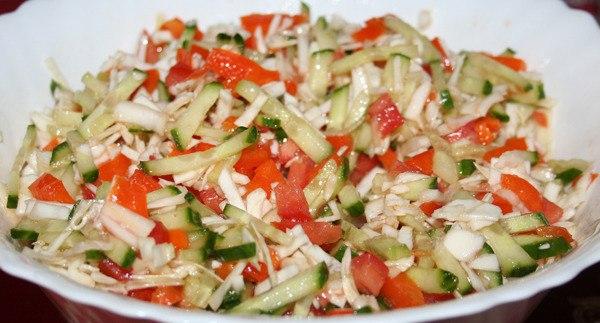 салат огурец помидор капуста морковь