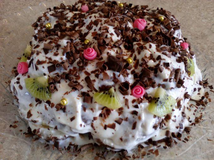 Как приготовить домашний торт без выпечки из пряников и зефира